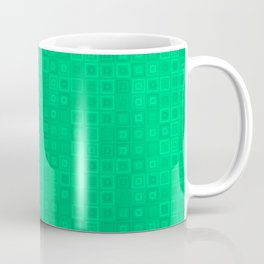 Abstract Pattern Green Squ Coffee Mug