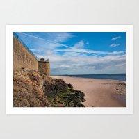 Broughty Ferry Beach, Scotland Art Print
