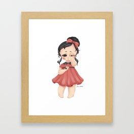 Eye See You - Creepy Cute Girl Framed Art Print