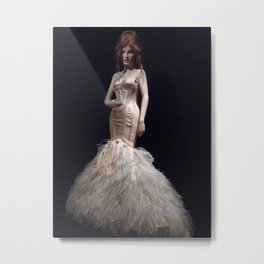 Feather Gown Metal Print