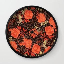 Art nouveau florals Wall Clock