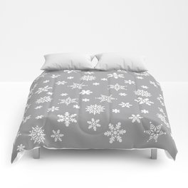 Snow Flurries-Light Gray Comforters