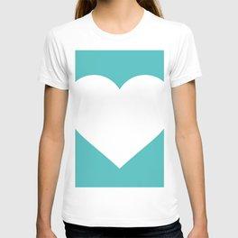 Heart (White & Teal) T-shirt