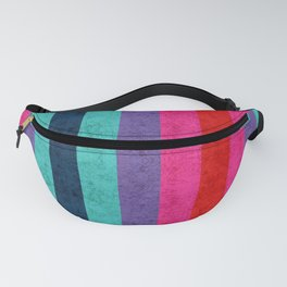 Colorful stripes on wall Fanny Pack
