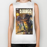 django Biker Tanks featuring Django by Don Kuing