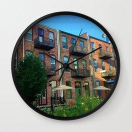 Good Morning Downtown Kalamazoo Wall Clock