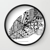 writer Wall Clocks featuring Writer Love by Vermont Greetings