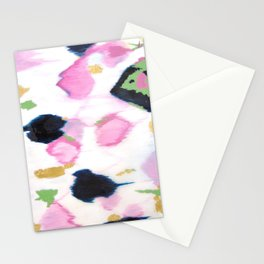 Kenzie - Pink Ikat Stationery Cards