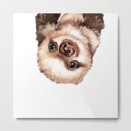Baby Sloth Metal Print