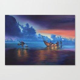 Sea Lantern Balance Canvas Print