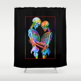 The Lovers Forever Shower Curtain