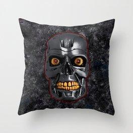 The Terminator: Metal Throw Pillow