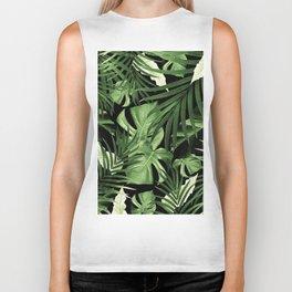 Tropical Jungle Night Leaves Pattern #5 #tropical #decor #art #society6 Biker Tank