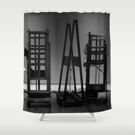 Easels in Black and White by David Hohmann Shower Curtain