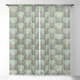La maison des papillons Sheer Curtain