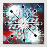 snowflake Canvas Prints featuring Snowflake by Sarah Maurer