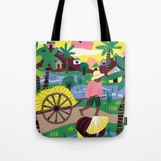 Ricefields Cambodia Tote Bag