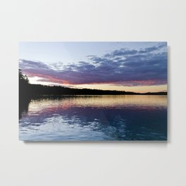 Sunset on Lake Obabika Metal Print