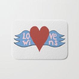 Love Wins!  A Valentine to Love. Bath Mat