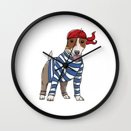 "Certified Dog Lover? Here's a cute t-shirt design with an illustration of ""Jack Russel Terrier"" Wall Clock"