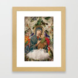 Saints Collection -- Madonna And Child Framed Art Print