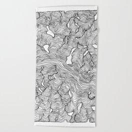 Enveloping Lines Beach Towel