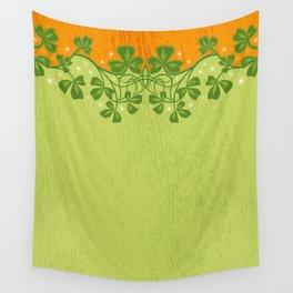 Irish Clover Pattern Wall Tapestry