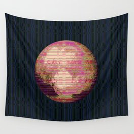 Stripey Pluto Wall Tapestry