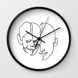 When two become one Wall Clock
