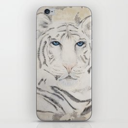Original Art - White Tiger Original Painting (highly textured)  #white iPhone Skin