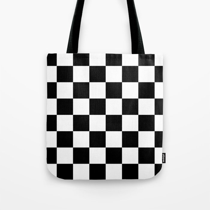 Black White Checkered Pattern Tote Bag By Lainey1978 Society6