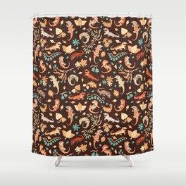 Autumn Geckos Shower Curtain