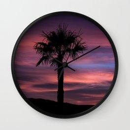 Palm Sunset - 8 Wall Clock