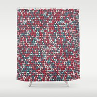 supreme Shower Curtains featuring Supreme Olive by John Proestakes