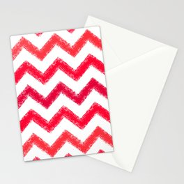 Red Chalk Chevron Stationery Cards