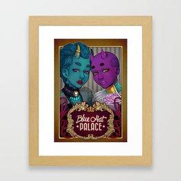 Blue Hat Palace Framed Art Print