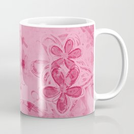 Rose Water Pink Splashes - Digital Abstract Texture Coffee Mug
