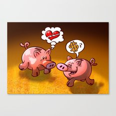 Money or Love? Canvas Print