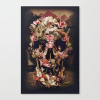 jungle Canvas Prints featuring Jungle Skull by Ali GULEC