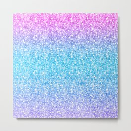 Colorful Retro Glitter And Sparkles Metal Print