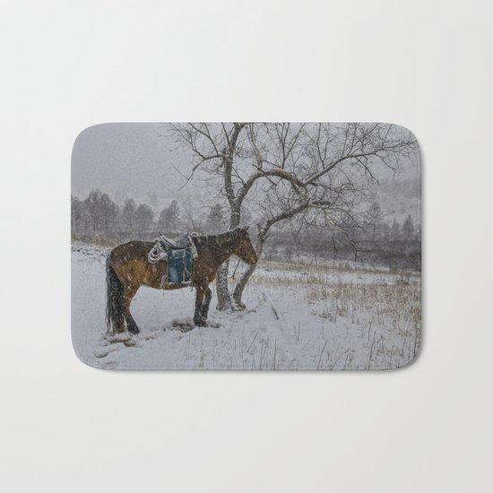 Winter Horse III Bath Mat