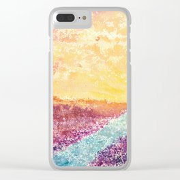 Magical Sunset Watercolor Illustration Clear iPhone Case
