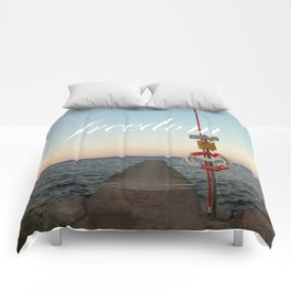 Freedom (with words) Comforters