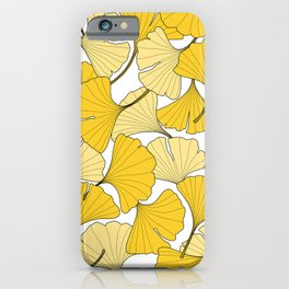 ginkgo leaves (yellow) iPhone Case