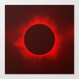 Solar Eclipse in Blood color Canvas Print
