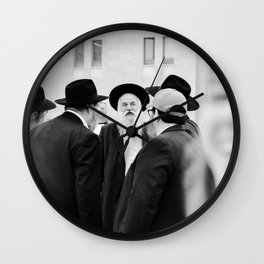 The Western Wall in the Old City, Jerusalem, Israel | Holy-place, religious jewish men talking | Fine art print photography  Wall Clock