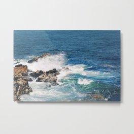 Maine Waves Metal Print