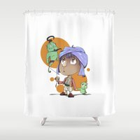 aladdin Shower Curtains featuring Cute Aladdin by EY Cartoons
