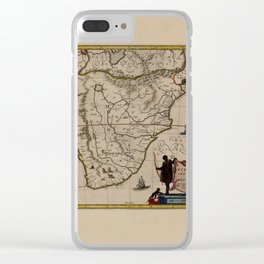 Map Of Ethiopia 1662 Clear iPhone Case