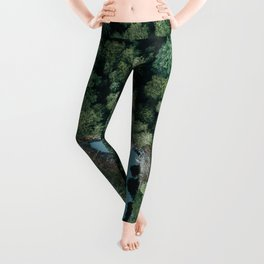 Hidden Lake in a Forest - Landscape Photography Leggings